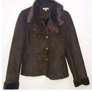 WILSON'S WOMEN SIZE S BROWN SUEDE LEATHER JACKET